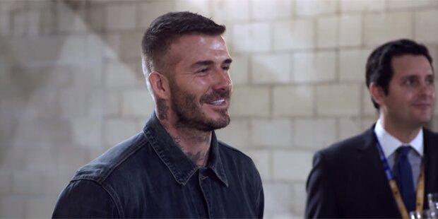 So geschockt ist David Beckham wegen Statue
