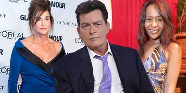 Charlie Sheen,  Caitlyn Jenner, Bobbi Kristin Brown