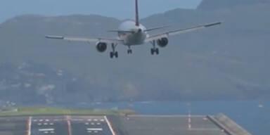 Windböen: Airbus mit Horror-Landung