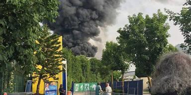 Großbrand im Europa-Park Rust