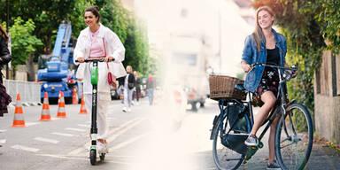 Scooter Radler Fahrrad