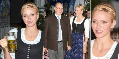 Monaco-Fürstin im schönsten zünftigen Outfit