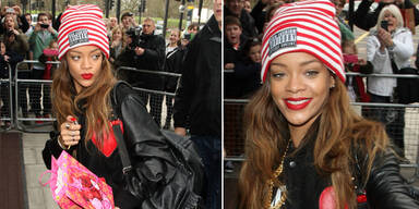 Rihanna in Chris Browns Outfit