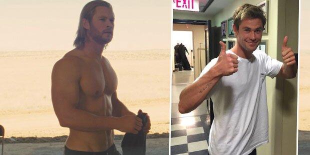 Chris Hemsworth, wo sind deine Muckis hin?