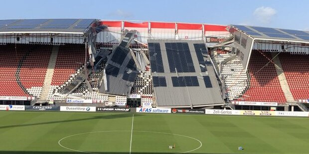 Kurz vor EL-Quali: Stadion in Holland eingestürzt