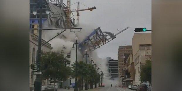 Hard-Rock-Hotel stürzt ein und fordert einen Toten