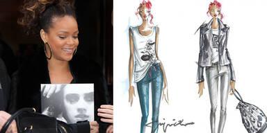 Rihanna designt für Armani