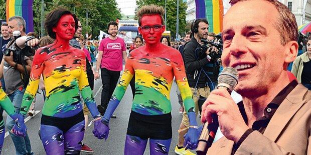 185.000 feierten bei Regenbogenparade