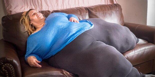 250 Kilo schwere Frau will noch dicker werden