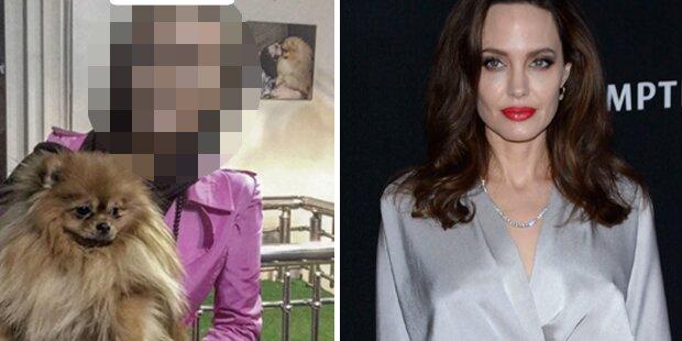 So sieht die falsche Jolie wirklich aus