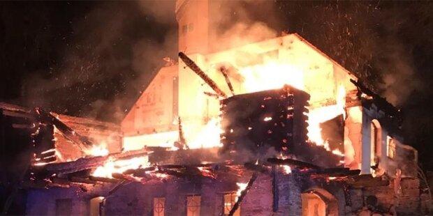 Flammen-Inferno auf Kärntner Alm