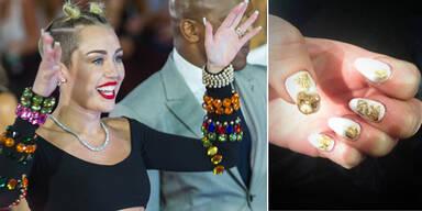 Perfekte Nägel wie Miley Cyrus