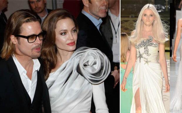 Versace schneidert Angelinas Brautkleid