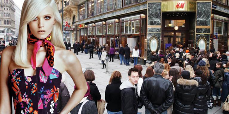 Heute: Kick-Off für Versace bei H&M