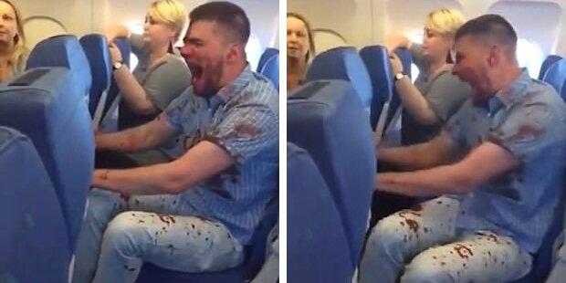 Hier rastet ein betrunkener Passagier völlig aus