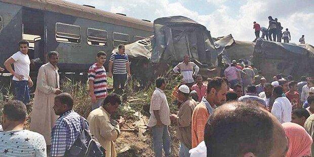Schweres Zugsunglück in Ägypten: Mehrere Tote