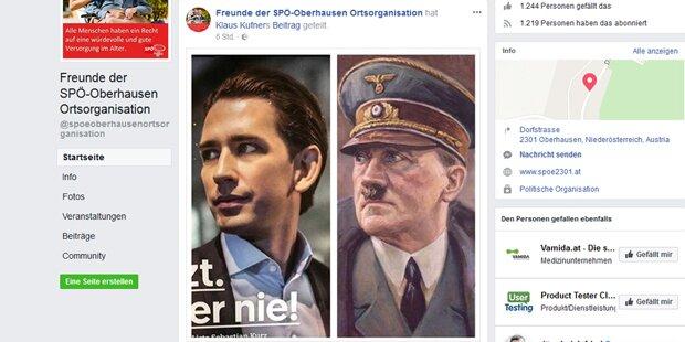 SPÖ-nahe Facebook-Seite vergleicht Kurz mit Hitler