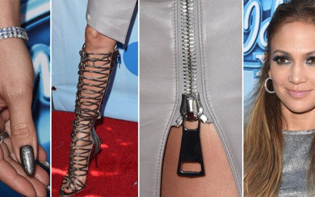Jennifer Lopez silbrige Outfit-Katastrophe