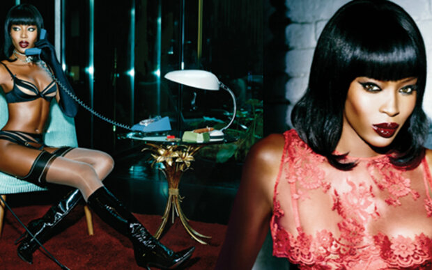Naomi Campbell wirbt für Agent Provocateur