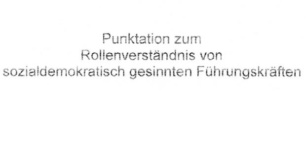 SPÖ Papier ist aufgetaucht