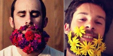 Blumenbärte sind der neue Hipster-Trend