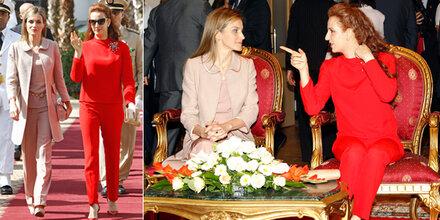 Letizia und Lalla Salma: Elegantes Duo