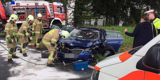 Fünf Verletzte bei Frontalkollision in Saalfelden