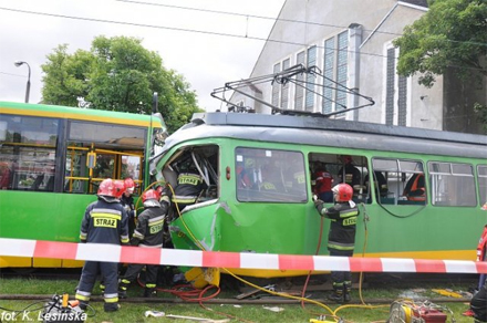 Straßenbahnunfall Posen Polen