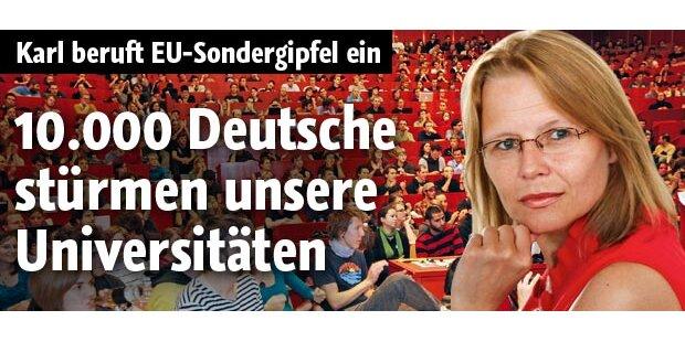 10.000 Deutsche stürmen unsere Unis