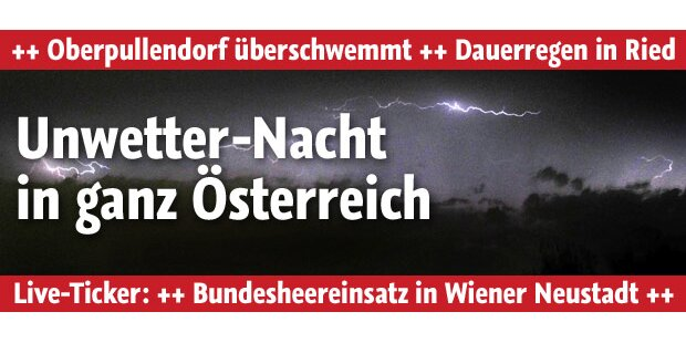 Wieder heftige Gewitter in Österreich