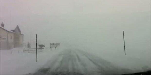 Schneeverwehungen im Kanton Uri