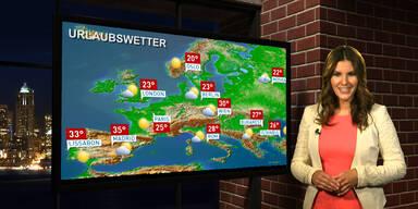 Das Urlaubswetter in Europa