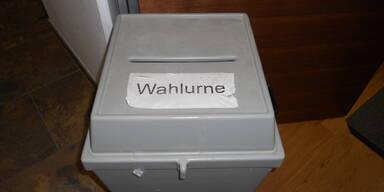 Die Wahlurne.