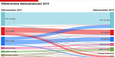 Wählerstromanalyse in Salzburg