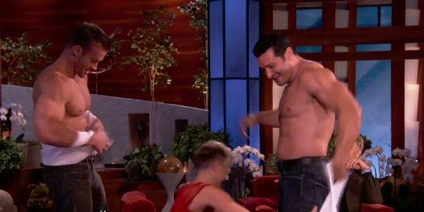 Ellen Show: Striptease für Miley Cyrus