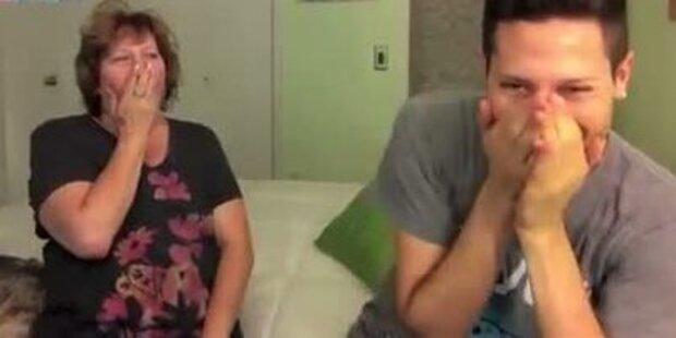 Schlafwandlerin - Sohn zeigt Mutter das Video