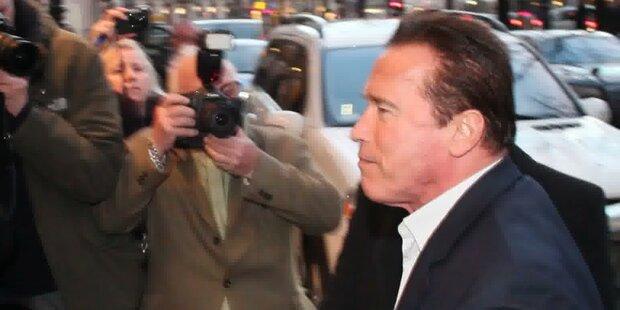 Schwarzenegger: Ankunft in Wien