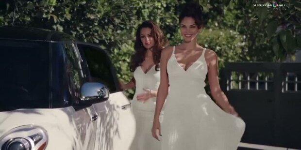 Sexy Schwestern machen Fiat 500L schmackhaft