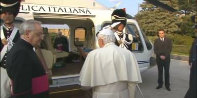 Papst: per Helikopter in den Ruhestand