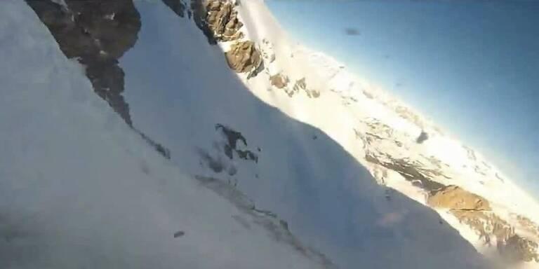 Snowboarder filmte eigenen Absturz