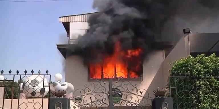 Kairo: Hooligans setzen Polizei-Klub in Brand
