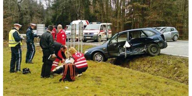 Drei Verletzte bei Unfall in Preding