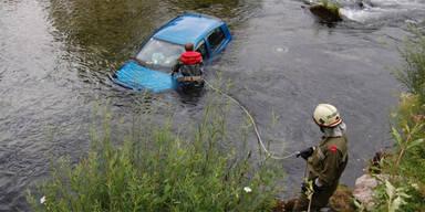 Unfallopfer vor dem Ertrinken gerettet