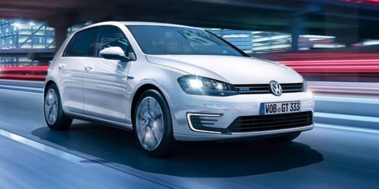 VW Golf GTE mit Plug-in-Hybrid startet