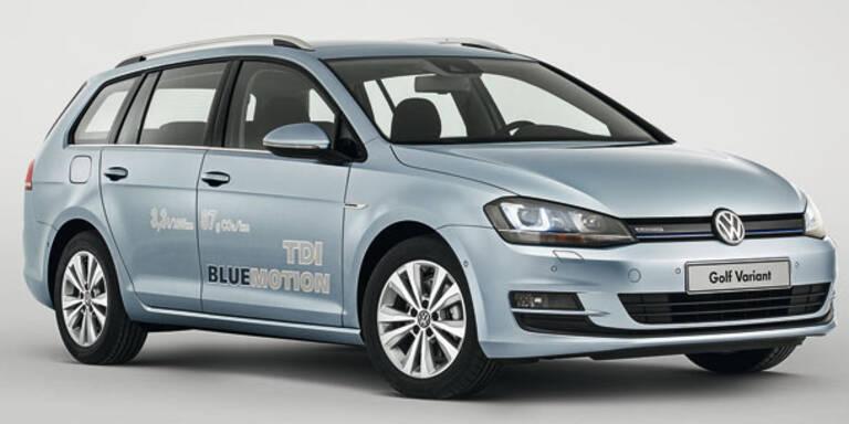 Start für den VW Golf Variant BlueMotion