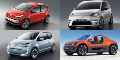VW zeigt sechs Studien vom neuen Up!