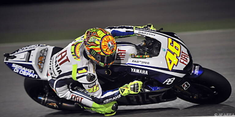 Valentino Rossi hatte wieder einmal die Nase vorn
