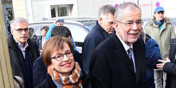 Erdrutschsieg für VdB in Vorarlberg