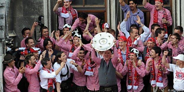 Zehntausende Fans feierten Bayern München
