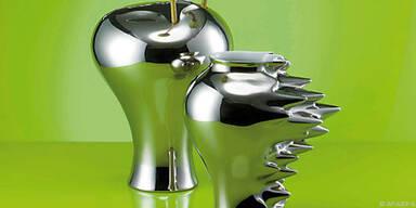Vasen aus platinüberzogenem Porzellan